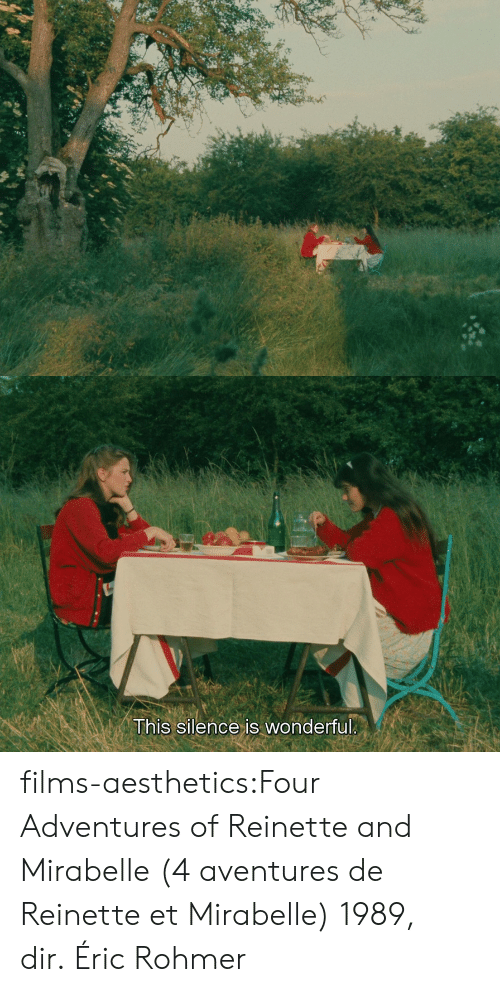 Imdb: This silence is wonderful films-aesthetics:Four Adventures of Reinette and Mirabelle (4 aventures de Reinette et Mirabelle) 1989, dir. Éric Rohmer