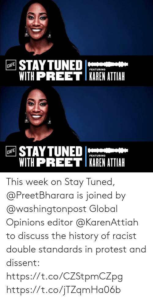 Racist: This week on Stay Tuned, @PreetBharara is joined by @washingtonpost Global Opinions editor @KarenAttiah to discuss the history of racist double standards in protest and dissent: https://t.co/CZStpmCZpg https://t.co/jTZqmHa06b
