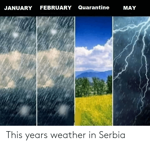 Weather: This years weather in Serbia