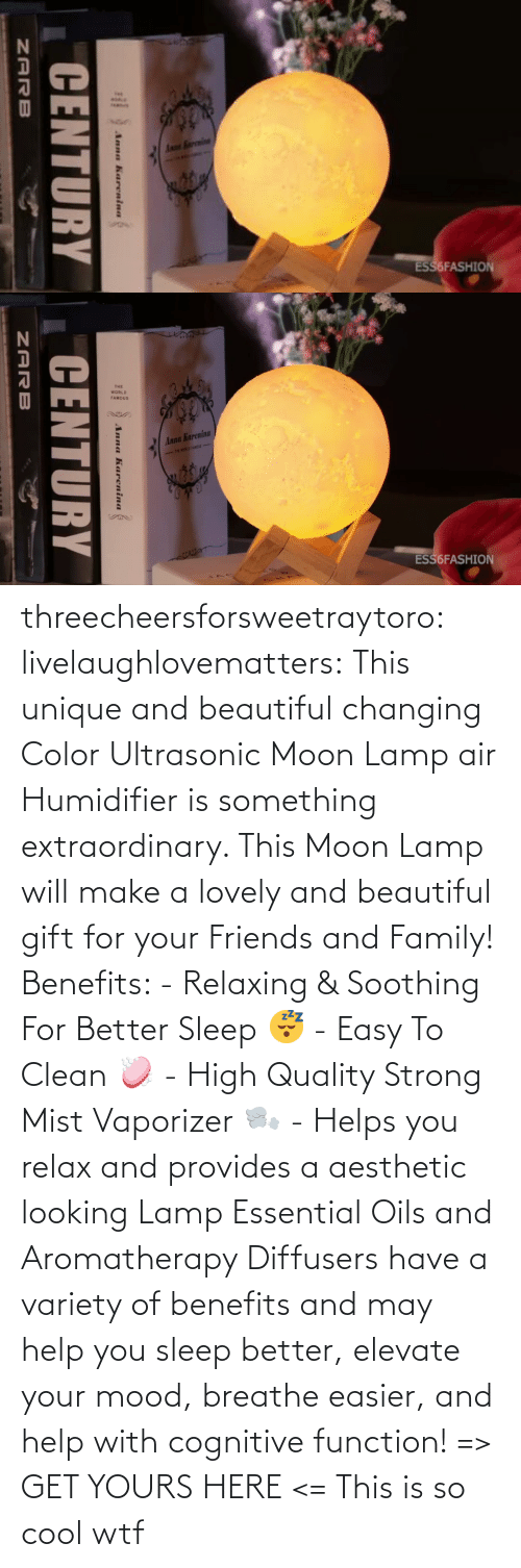 lamp: threecheersforsweetraytoro: livelaughlovematters:   This unique and beautiful changing Color Ultrasonic Moon Lamp air Humidifier is something extraordinary. This Moon Lamp will make a lovely and beautiful gift for your Friends and Family! Benefits:  - Relaxing & Soothing For Better Sleep 😴 - Easy To Clean 🧼 - High Quality Strong Mist Vaporizer 🌬️ - Helps you relax and provides a aesthetic looking Lamp Essential Oils and Aromatherapy Diffusers have a variety of benefits and may help you sleep better, elevate your mood, breathe easier, and help with cognitive function! => GET YOURS HERE <=    This is so cool wtf