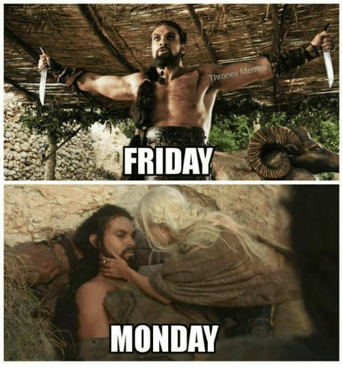 Thrones Meme: Thrones Memes  FRIDAY  MONDAY