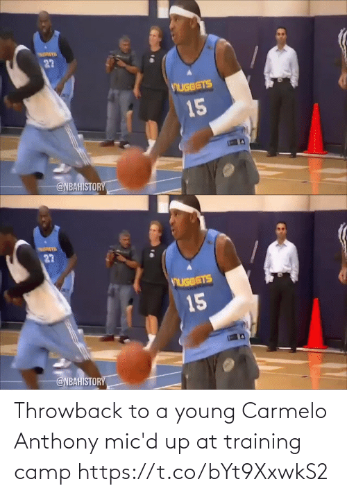 Anthony: Throwback to a young Carmelo Anthony mic'd up at training camp https://t.co/bYt9XxwkS2