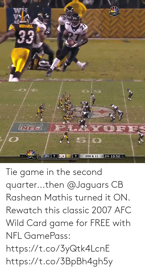 jaguars: Tie game in the second quarter...then @Jaguars CB Rashean Mathis turned it ON.  Rewatch this classic 2007 AFC Wild Card game for FREE with NFL GamePass: https://t.co/3yQtk4LcnE https://t.co/3BpBh4gh5y