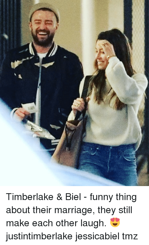Biel: Timberlake & Biel - funny thing about their marriage, they still make each other laugh. 😍 justintimberlake jessicabiel tmz