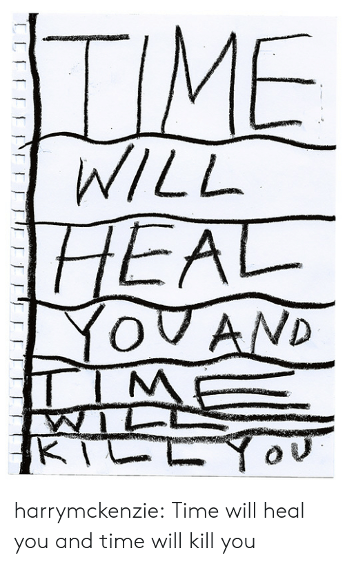 Tumblr, Blog, and Http: TIME  WILL  HEAL  YOVAND  TIM  KTCLY harrymckenzie: Time will heal you and time will kill you