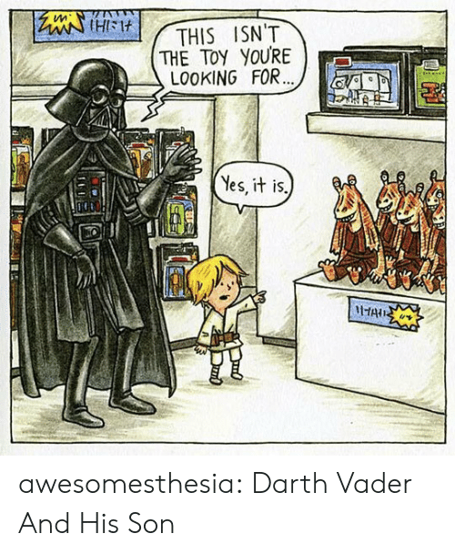 Yes It Is: tleiHIM  THE TOY YOURE  LO0KING FOR...  THIS ISN'T  Yes, it is.  HAIS awesomesthesia:  Darth Vader And His Son