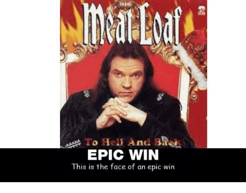 Epic Winning: To Hely And BA&As  EPIC WIN  This is the face of an epic win