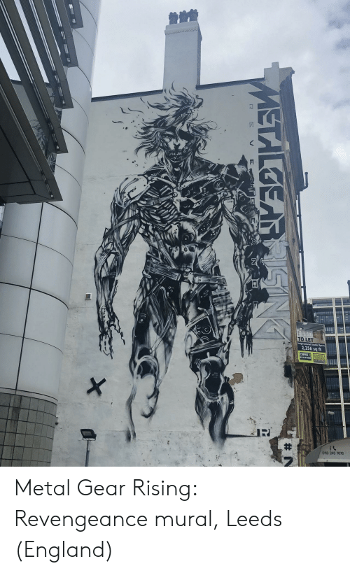 England, Metal Gear, and Metal: TO LET  2.256 sq ft  CBRE  X  3 245 7676  METALGEARRISING  E N  N  E  V Metal Gear Rising: Revengeance mural, Leeds (England)