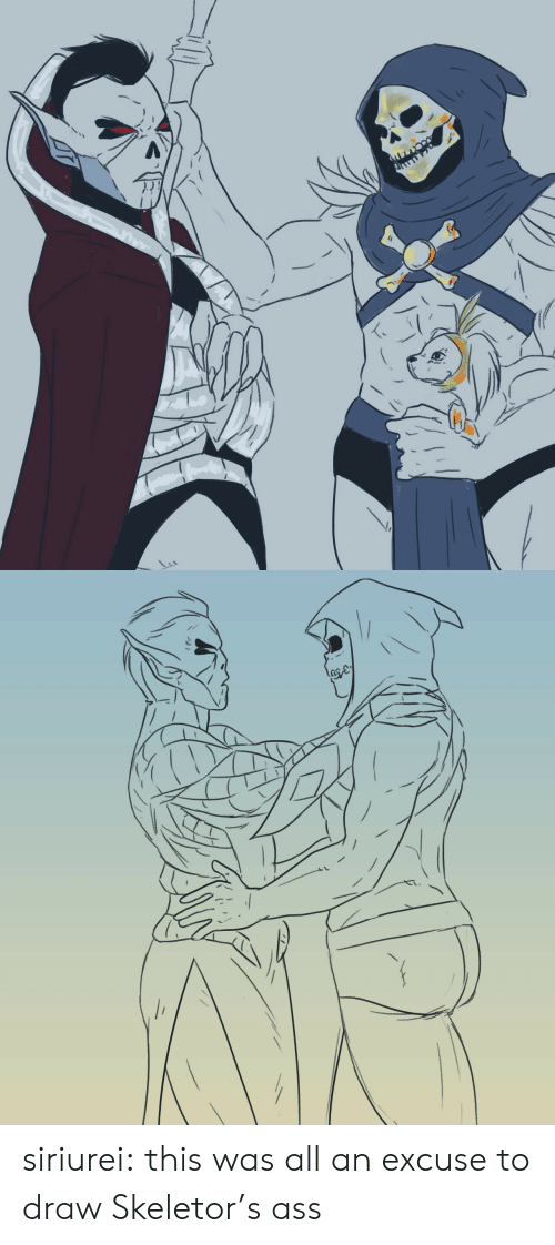 skeletor: To siriurei:  this was all an excuse to draw Skeletor's ass