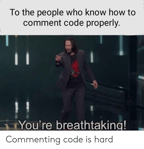 How To, How, and Code: To the people who know how to  comment code properly.  You're breathtaking! Commenting code is hard
