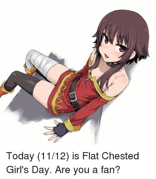 Flat Chests: Today (11/12) is Flat Chested Girl's Day. Are you a fan?