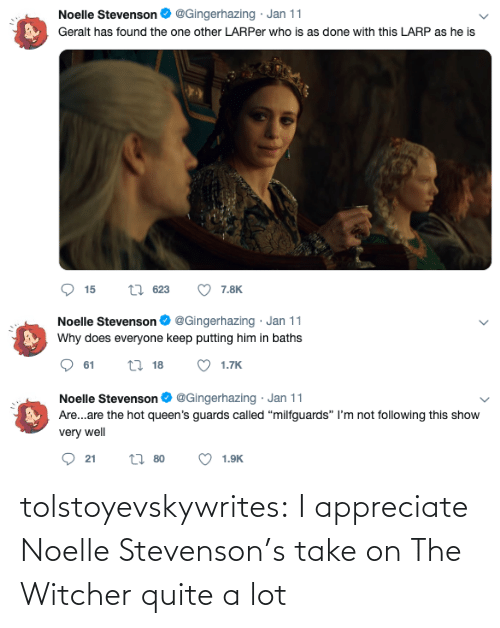 witcher: tolstoyevskywrites: I appreciate Noelle Stevenson's take on The Witcher quite a lot