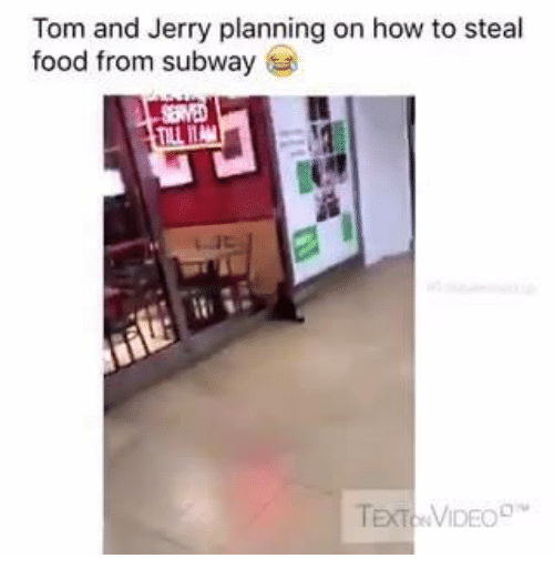 How To Steal: Tom and Jerry planning on how to steal  food from subway