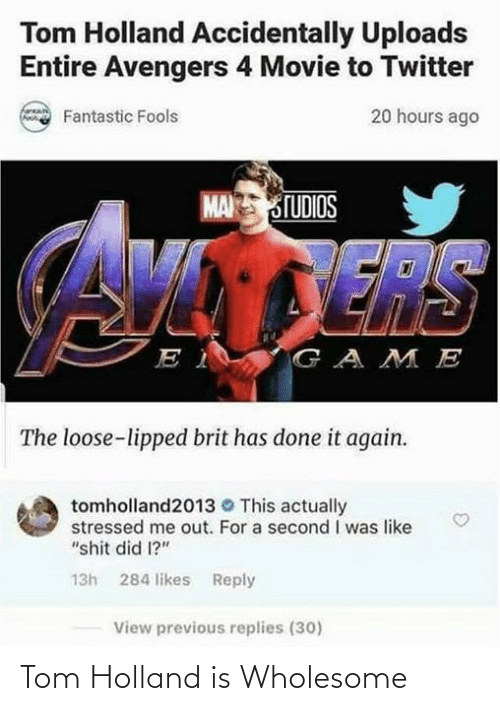holland: Tom Holland is Wholesome
