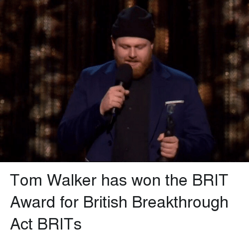 brits: Tom Walker has won the BRIT Award for British Breakthrough Act BRITs