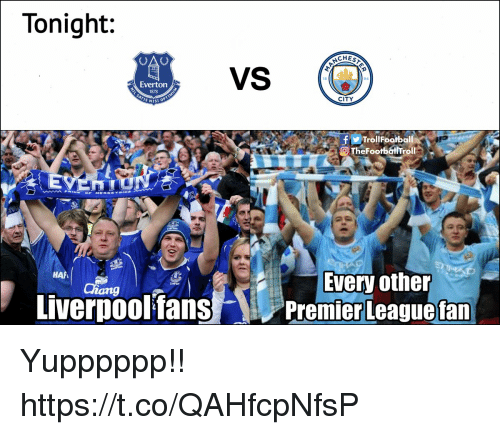 Memes, 🤖, and City: Tonight:  CHES  94  Evertorn  1878  CITY  fTrollFootbali  Every other  Premier Leaguefan  - Yupppppp!! https://t.co/QAHfcpNfsP