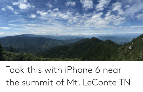 Iphone 6: Took this with iPhone 6 near the summit of Mt. LeConte TN