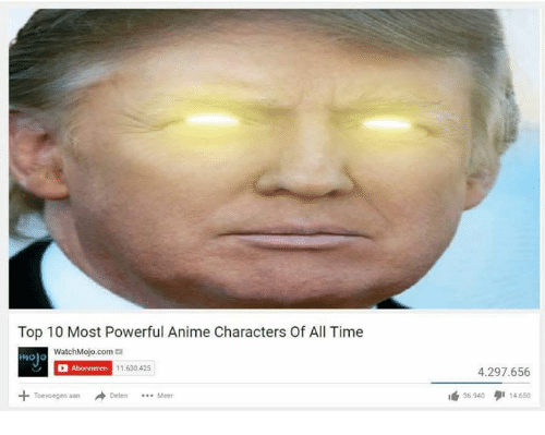 Animeds: Top 10 Most Powerful Anime Characters Of All Time  WatchMojo.com  Abonneren  11.630425  Toevoegen aan  4.297.656  35.940 14.650