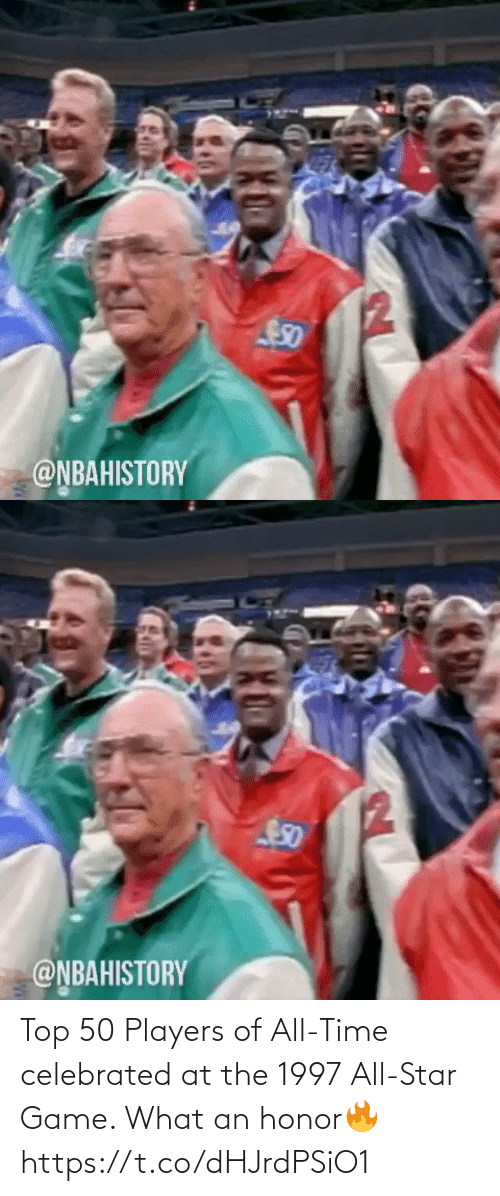 honor: Top 50 Players of All-Time celebrated at the 1997 All-Star Game. What an honor🔥 https://t.co/dHJrdPSiO1