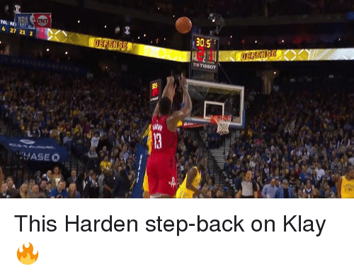 Back, Step, and This: Tou  30.9  4 27 21 2 This Harden step-back on Klay 🔥
