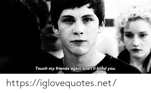 Friends, Net, and Touch: Touch my friends again and l'll blind you. https://iglovequotes.net/