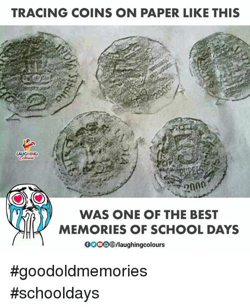 schooldays: TRACING COINS ON PAPER LIKE THIS  HING  WAS ONE OF THE BEST  MEMORIES OF SCHOOL DAYS  0o0O  /laughingcolours #goodoldmemories #schooldays