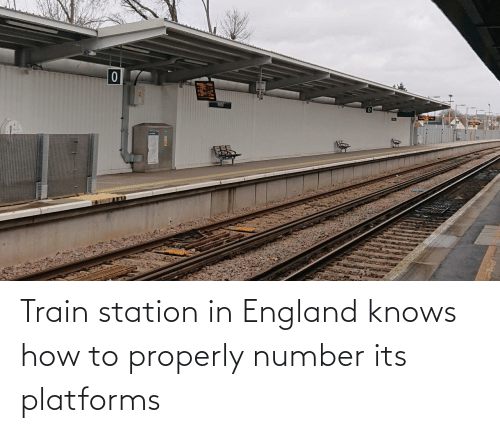 Properly: Train station in England knows how to properly number its platforms