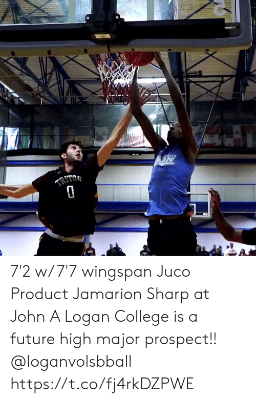 Logan: TRITO 7'2 w/ 7'7 wingspan Juco Product Jamarion Sharp at John A Logan College is a future high major prospect!! @loganvolsbball https://t.co/fj4rkDZPWE
