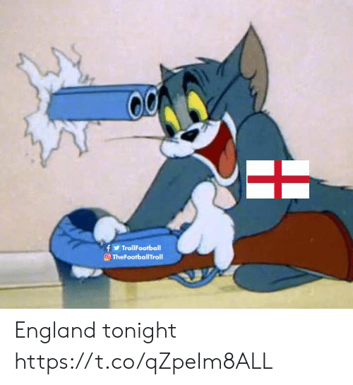 England, Memes, and 🤖: TrollFootball  TheFootballTroll England tonight https://t.co/qZpeIm8ALL