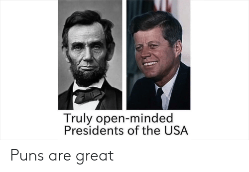 Puns, Presidents, and Dank Memes: Truly open-minded  Presidents of the USA Puns are great