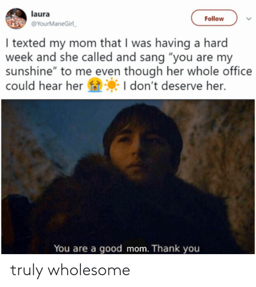 Wholesome: truly wholesome