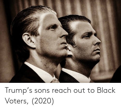 Reach Out: Trump's sons reach out to Black Voters, (2020)