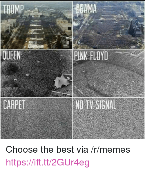 "Pink Floyd: TRUMP  AMA  QUEEN  PINK FLOYD  CARPET  NDTV SIGNAL <p>Choose the best via /r/memes <a href=""https://ift.tt/2GUr4eg"">https://ift.tt/2GUr4eg</a></p>"