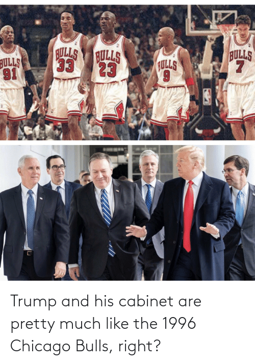 Chicago: Trump and his cabinet are pretty much like the 1996 Chicago Bulls, right?