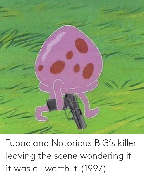 Tupac: Tupac and Notorious BIG's killer leaving the scene wondering if it was all worth it (1997)
