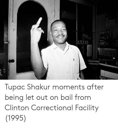 Tupac: Tupac Shakur moments after being let out on bail from Clinton Correctional Facility (1995)