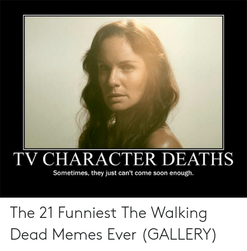 the walking dead memes: TV CHARACTER DEATHS  Sometimes, they just can't come soon enough. The 21 Funniest The Walking Dead Memes Ever (GALLERY)