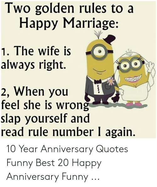 Two Golden Rules to a Happy Marriage 1 the Wife Is Always ...