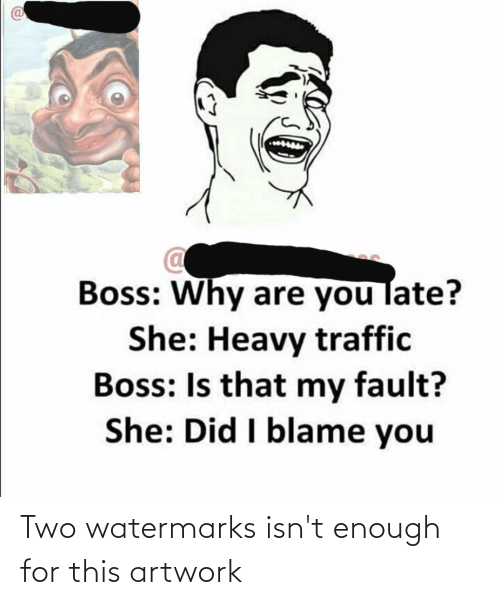 Watermarks: Two watermarks isn't enough for this artwork