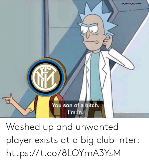 Im In: u/a bunch_of_zeroes  You son of a bitch.  I'm in. Washed up and unwanted player exists at a big club  Inter: https://t.co/8LOYmA3YsM