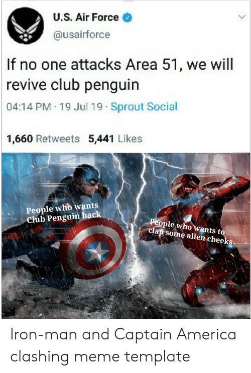US Air Force if No One Attacks Area 51 We Will |Revive Club Penguin