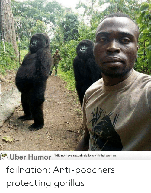 Tumblr, Uber, and Blog: Uber Humor  I did not have sexual relations with that woman failnation:  Anti-poachers protecting gorillas