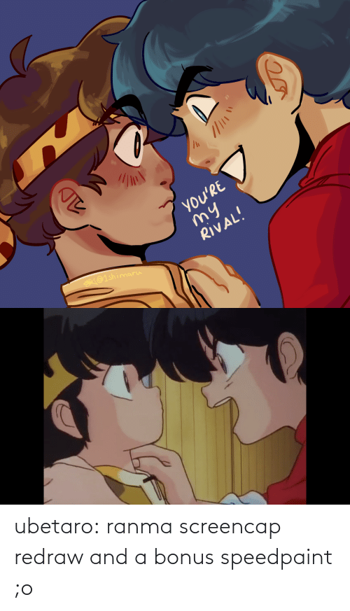 url: ubetaro: ranma screencap redraw and a bonus speedpaint ;o