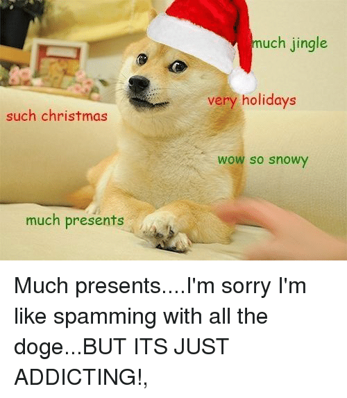 christmas doge and sorry uch jingle very holidays such christmas wow so snowy - Christmas Doge