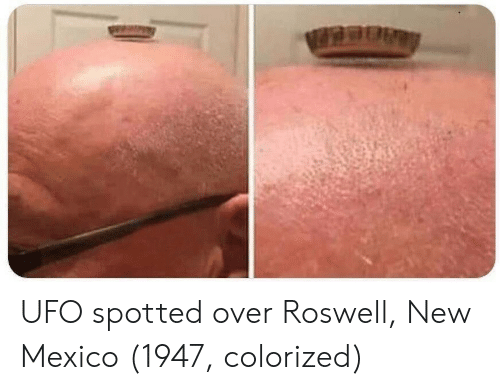 New Mexico: UFO spotted over Roswell, New Mexico (1947, colorized)