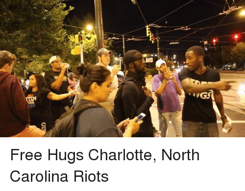free hug: UGS Free Hugs Charlotte, North Carolina Riots