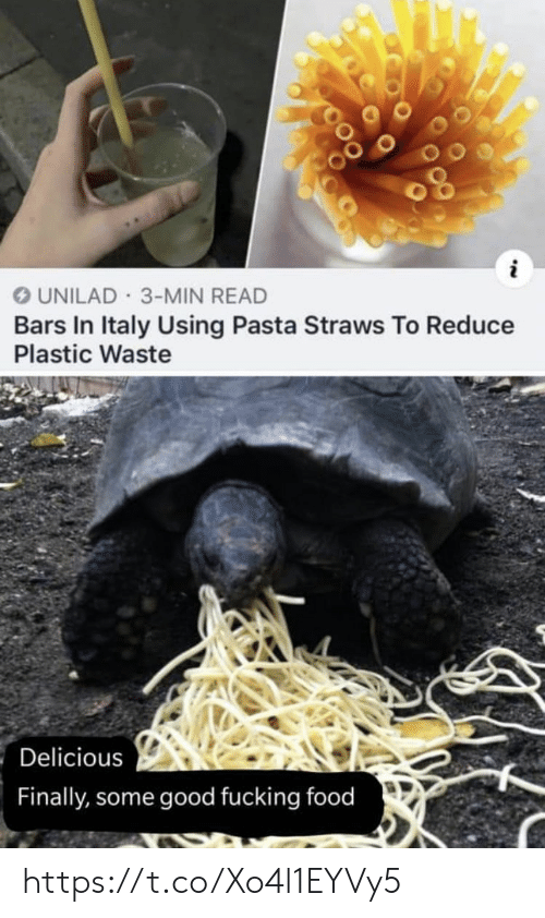 Food, Fucking, and Memes: UNILAD 3-MIN READ  Bars In Italy Using Pasta Straws To Reduce  Plastic Waste  Delicious  Finally, some good fucking food https://t.co/Xo4l1EYVy5
