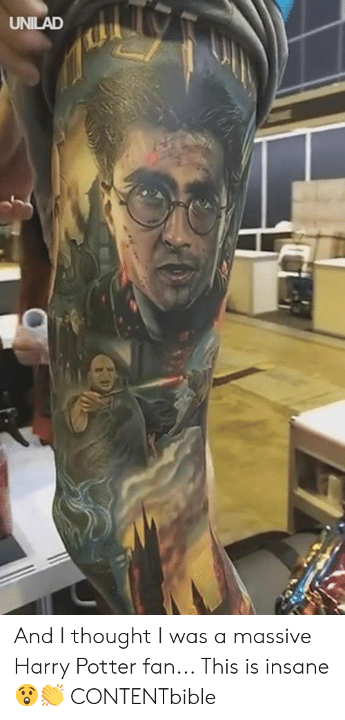 Dank, Harry Potter, and Thought: UNILAD And I thought I was a massive Harry Potter fan... This is insane 😲👏  CONTENTbible