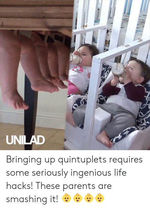 ingenious: UNILAD Bringing up quintuplets requires some seriously ingenious life hacks! These parents are smashing it! 👶👶👶👶