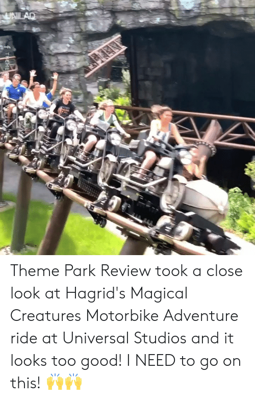 Dank, Good, and 🤖: UNILAD  THEMERA. E Theme Park Review took a close look at Hagrid's Magical Creatures Motorbike Adventure ride at Universal Studios and it looks too good! I NEED to go on this! 🙌🙌